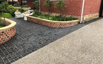 Exposed Aggregate Driveway & Cobblestone Entry Path - Fremantle