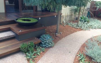 Exposed Aggregate Garden Path & Steps - Como